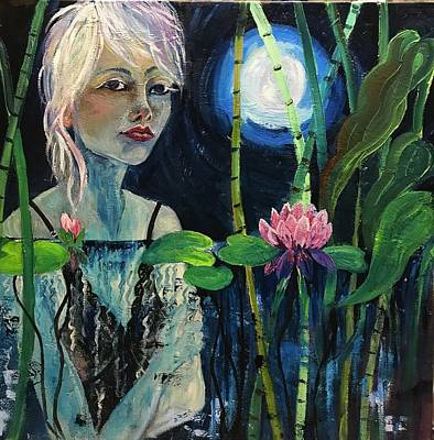 Painting -  Full Moon Woman by Esther Woods