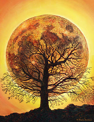 Painting - Full Moonrise. by Douglas Castleman