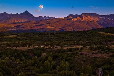 Full Moonrise In Ridgway Original