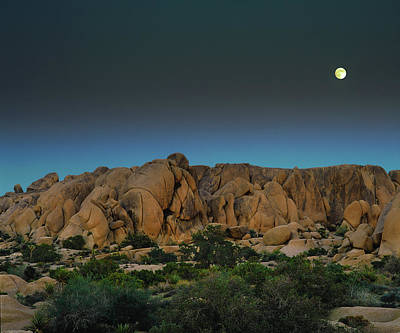 Photograph - Full Moonrise Over Jumbo Rocks by Paul Breitkreuz