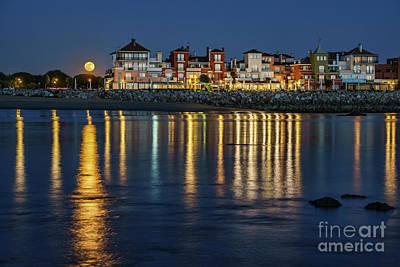 Photograph - Full Moonrise Over Sailor's Town Puerto De Santa Maria Spain by Pablo Avanzini