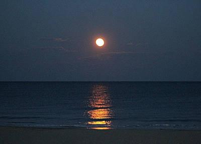 Photograph - Full Moon's Glow On The Atlantic by Robert Banach