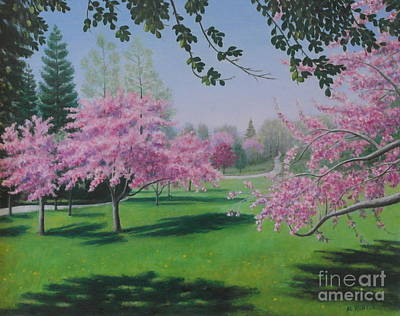 Painting - Full Of Blossoms by Al Hunter