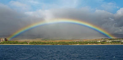 Photograph - Full Rainbow, Maui Hi by Michael Bessler