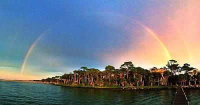 Full Rainbow Panorama Art Print by Paul  Wilford
