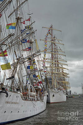 Photograph - Full Rigged Ships by Patricia Hofmeester