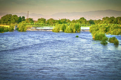 Photograph - Full River by Connie Cooper-Edwards