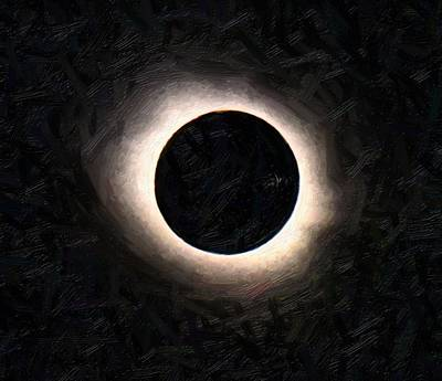 Solar Eclipse Painting - Full Solar Eclipse 2 by Celestial Images