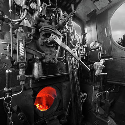 Photograph - Vintage Steam Train Furnace by Gill Billington