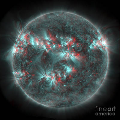 Full Sun With Lots Of Sunspots Art Print by Stocktrek Images