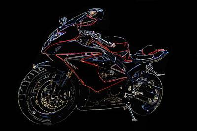 Digital Art - Full Throttle II by Ricky Barnard