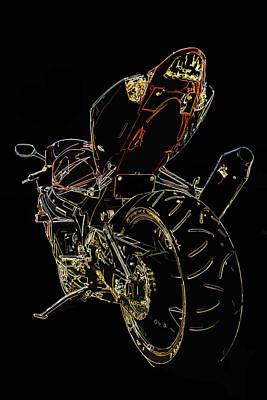 Digital Art - Full Throttle by Ricky Barnard