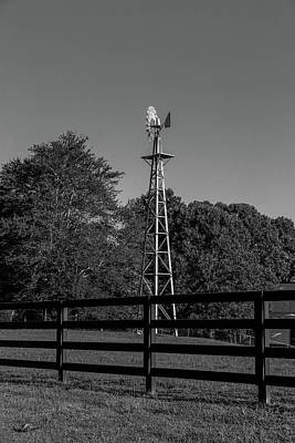 Photograph - Full Windmill In Bw by Doug Camara