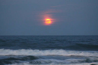 Photograph - Full 'worm' Moon Rising by Robert Banach