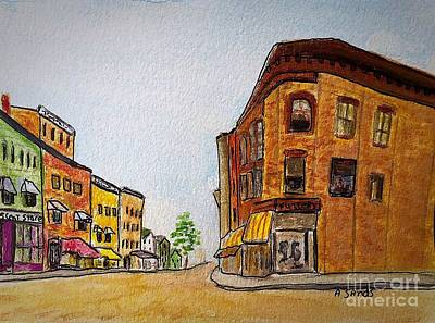 Painting - Fuller Building Main Street Amesbury by Anne Sands