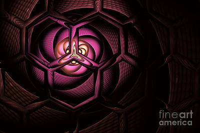 Molecule Digital Art - Fullerene by John Edwards