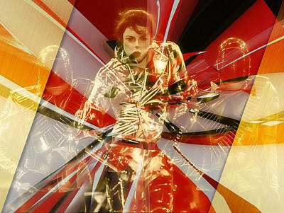 Michael Jackson Mixed Media - Fully Charged Michael Jackson by Marvin Blaine