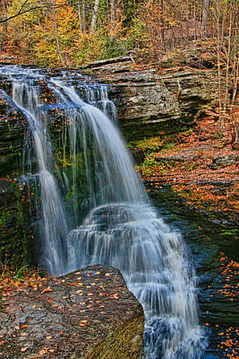 Photograph - Fulmer Falls - Childs State Park by Allen Beatty