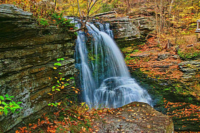 Photograph - Fulmer Falls - Childs State Park 2 by Allen Beatty