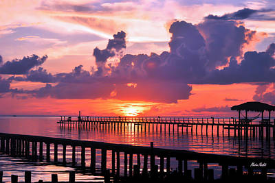 Pyrography - Fulton Beach Rd. At Dawn by Maria Nesbit