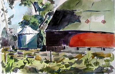 Fulton County Round Red Barn Original by Charlie Spear
