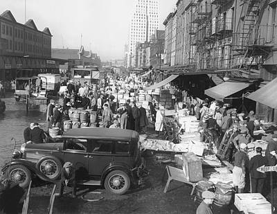 South Street Photograph - Fulton Fish Market by Underwood Archives