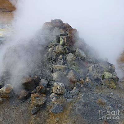 Photograph - Fumarole Fumes by Barbie Corbett-Newmin