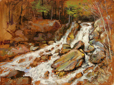 Fumee Falls Quinnessec Mi Art Print by Larry Seiler