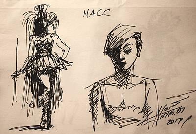 Niagra Falls Drawing - Fun At Art Of Fashion At Nacc 1 by Ylli Haruni