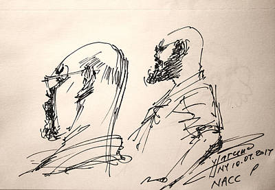 Niagra Falls Drawing - Fun At Art Of Fashion At Nacc 4 by Ylli Haruni