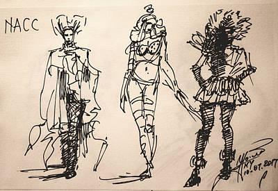 Niagra Falls Drawing - Fun At Art Of Fashion At Nacc by Ylli Haruni