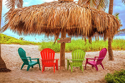 Jamaican Sunsets Photograph - Fun At The Beach by Debra and Dave Vanderlaan