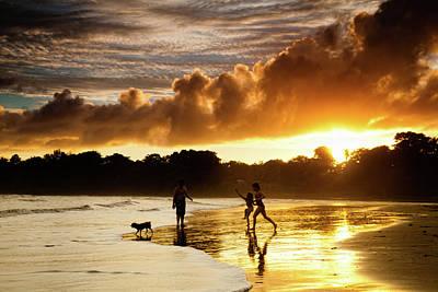 Dog At Beach Photograph - Fun At The Beach by Iris Greenwell