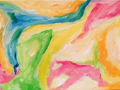 Painting - Fun Colors Abstract by Tay Morgan