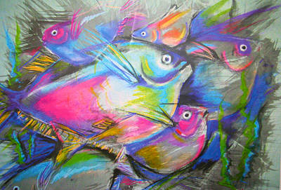 Mixed Media - Fun Fish by Jacqueline Endlich
