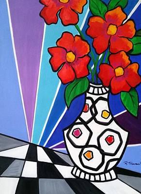 Painting - Fun Floral Fantasy by Rosie Sherman