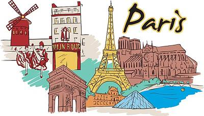 Digital Art - Fun Food And Folly In Paris by Stanley Mathis