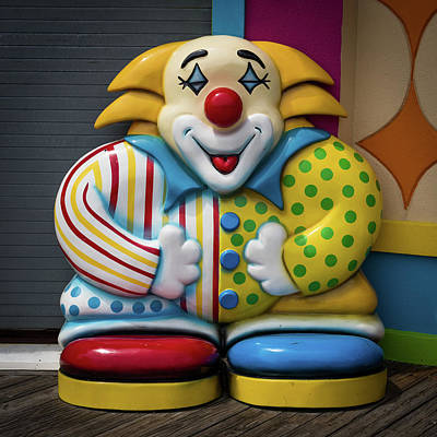 Photograph - Fun House Clown Point Pleasant Nj Boardwalk by Terry DeLuco