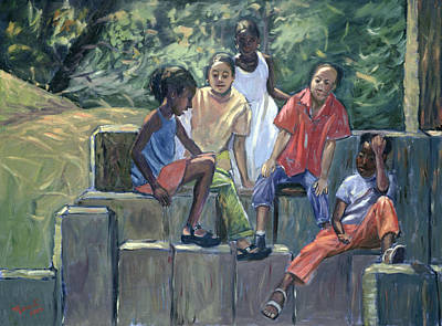 African American Artist Wall Art - Painting - Fun In The Park by Carlton Murrell