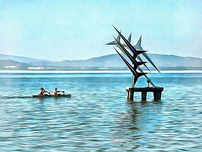 Photograph - Fun In The Sun At Lago Trasimeno by Dorothy Berry-Lound