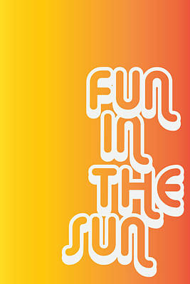 Art Poster Digital Art - Fun In The Sun by Cortney Herron