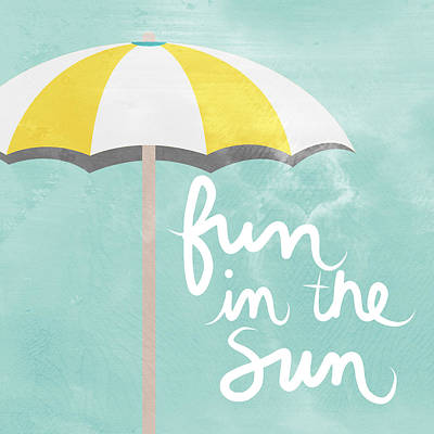 Calligraphy Painting - Fun In The Sun by Linda Woods