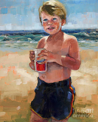 Painting - Sold Fun In The Sun by Nancy  Parsons