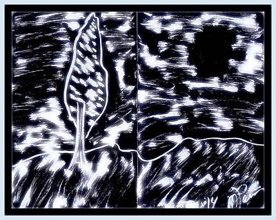 Drawing - Fun In Trees 10 by Mario Perron