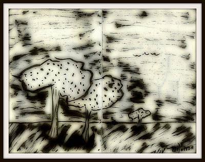 Digital Art - Fun In Trees 5 by Mario Perron