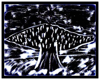 Drawing - Fun In Trees 9 by Mario Perron