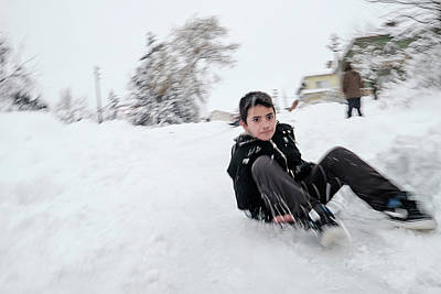 Photograph - Fun On Snow-1 by Okan YILMAZ