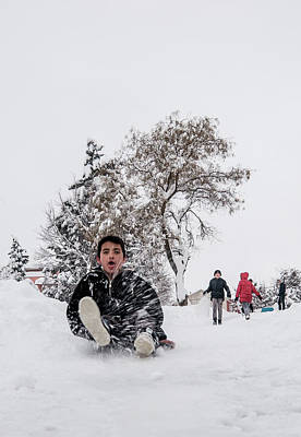 Photograph - Fun On Snow-2 by Okan YILMAZ
