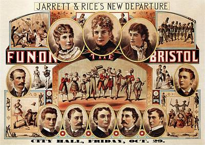 Mixed Media - Fun On The Bristol - Jarrett And Rice's New Departure - Vintage Theatre Advertising Poster by Studio Grafiikka