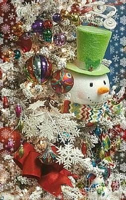 Pyrography - Fun Snowman Holiday Greeting by Rachel Hannah